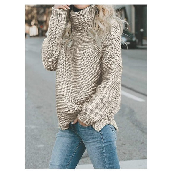 S The Widow Sweaters Aileen Cream Chunky Turtleneck Sweater Poshmark
